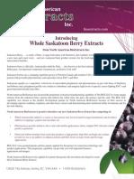 Saskatoon Berry Extracts