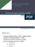 factori etiologici generali ai ADM