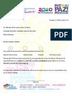 MEMBRETE GOBIERNO NICARAGUA  2020