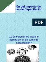 Evaluación del impacto de la capacitación