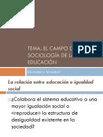 Tema. El Campo de La Sociologia de La Educacion