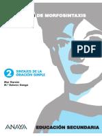 244246890 Sintaxis Oracion Simple PDF
