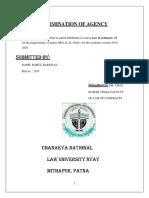 Termination of Agency PDF
