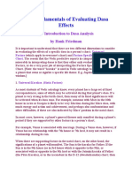 The Fundamentals of Evaluating Dasa Effects
