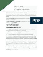 Qué es la ISO 27001