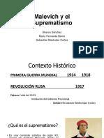Presentación Malevich y El Suprematismo, Historia 1, Universidad del Cauca