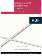 International Journal of Data Engineering (IJDE) Volume (1) Issue (2)
