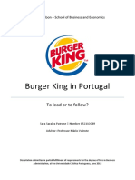 Burger King in Portugal