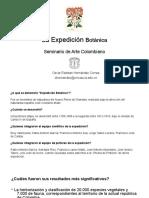 Presentación Expedición Botánica y Comisión Corográfica, Seminario Arte Colombiano, Universidad del Cauca