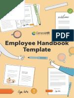 Employee Handbook Template - Genesis HR