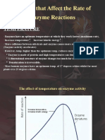 Factors That Affect the Rate of Enzyme Reactions