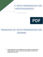 Teeth Preparation Principles