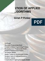 Application Of Applied Algorithms
