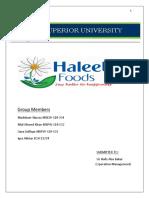 haleeb food opration management