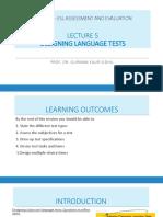 TOPIC 5 - Designing Language Tests