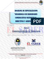 TRABAJO APLICATIVO- SEPARATA ADMNISTRACIÓN EDUCATIVA - EL SABER