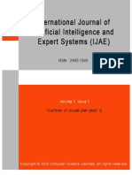 International Journal of Artificial Intelligence and Expert Systems (IJAE) Volume (1) Issue (1)