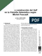 construcción del self en la filosofía helenística según Foucault