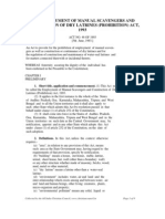 Employment of Manual Scavengers and Construction of Dry Latrines Prohibition Act 1993