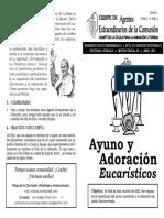49. Ayuno y Adoración Eucarísticos