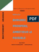 Burundi - Francis ROHERO - Projet de Société Du MOUVEMENT ORANGE
