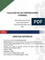 FISIOLOGIA DE LAS CONTRACCIONES UTERINAS