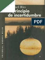 El principio de incertidumbre - Michel Rio