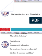 Data Collection and Thresholds 1
