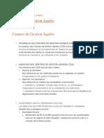 CENTRES DE GESTION AGRÉÉS