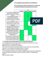 Actividad 2 - Tipos de Variables Analizadas en Estadística