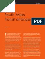Case for South Asian Transit Arrangement