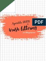 Apostila Grátis Brush LETTERING - Feito por Blog GirlePower