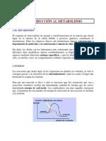 1.INTRODUCCION AL METABOLISMO