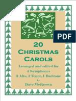 20 Carols 4tet Sax AATB