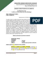 Modelo Demanda Prorrateo Alimentos - Autor José María Pacori Cari