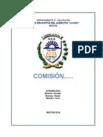 FORMATO PLAN DE TRABAJO COMISIONES