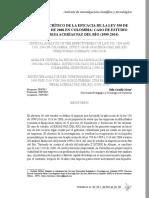 ANÁLISIS CRÍTICO DE LA EFICACIA DE LA LEY 550 DE