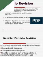 Portfolio Revision