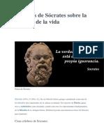 66 frases de Sócrates sobre la filosofía de la vida