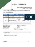 Thirupathi Resume 20201