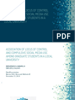 Association of Locus of Control and Compulsive Social media Use