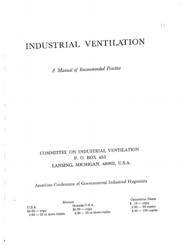 acgih ventilation manual table 4 3 how to and user guide rh taxibermuda co Industrial Ventilation for Welding Industrial Ventilation Handbook