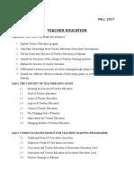 Teacher Education in Pakistan