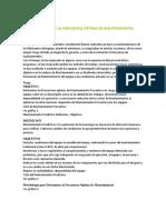DETERMINACIÓN DE LA FRECUENCIA ÓPTIMA DE MANTENIMIENTO PREVENTIVO