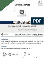 Clase Lab 1 Introduccion a las Ecuaciones Diferenciales