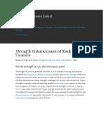 Strength Enhancement of Rock Mass in