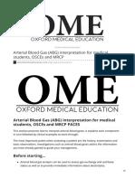 oxfordmedicaleducation.com- Arterial Blood Gas ABG interpretation for medical students OSCEs and MRCP