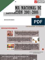 Programa nacional educación 2001-2006