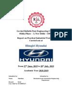 Industrial Training Sample Report