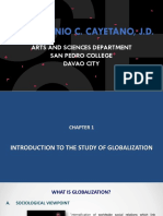 Chapter 1 - Introduction to the Study of Globalization